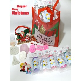 Shopper Merry Christmas kit piu omaggio