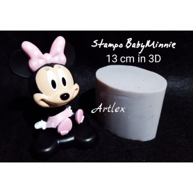 stampo in 3D baby minnie 13 cm